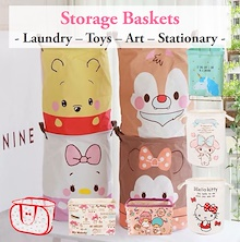Hello Kitty/ Melody Summiko Foldable Laundry Basket ♥ Paper Storage Box Toys Organizer Baby Clothing
