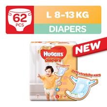 Huggies Gold Diapers L 62pcs x 2