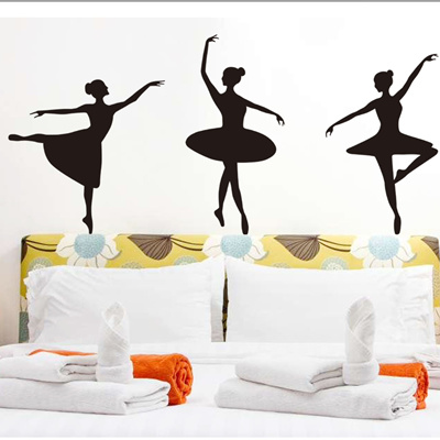 Wall ballet, dance music, wardrobe stickers, wall paintings, bedroom wall  stickers, classroom sticke