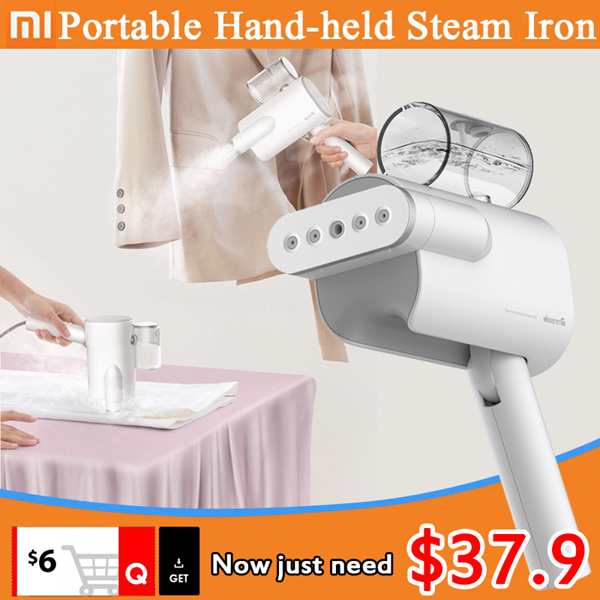 ?24H fast delivery?Xiaomi Deerma Handheld Garment Steamer Steam Iron Portable Clothes Foldable Deals for only S$199 instead of S$199