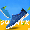 Summer new shoes mens feet lazy shoes mesh breathable sports shoes Korean casual shoes