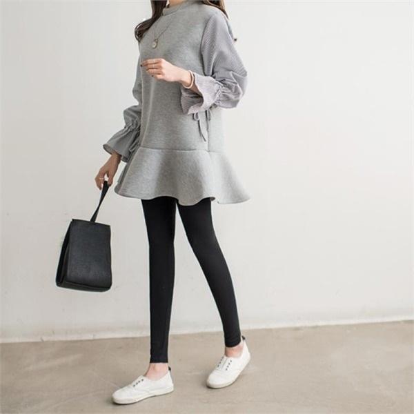 [韓国直送] 【ピピン]スーツレン裾フリルワンピース#34898