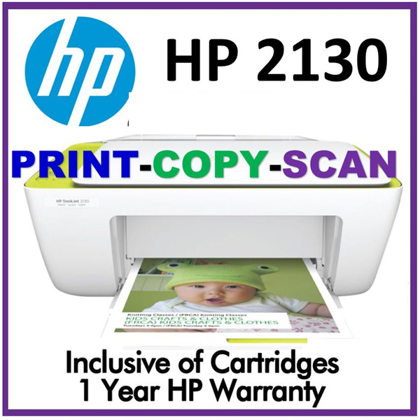 HP Printer Deskjet D2130 2623 Copy Print Scan ALL IN ONE Free HP ORIGINAL Color Black 2621 3830 Fax Deals for only S$85 instead of S$85