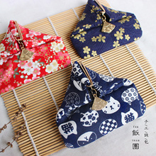 Japan Style Coin Purse Women Buckle Coin Wallet Printing Coin Punch Girl Mini Money Purse Girl Gift