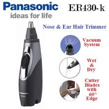 Panasonic ER-430 Wet/Dry Nose  Ear Hair Trimmer with Vacuum System (Export)