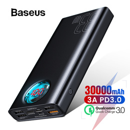 Baseus 30000mAh Power Bank USB Type C PD 3.0 Fast Charging Quick Charge 3.0 Powerbank for iPhone Hua