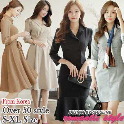 [Chicline] 2018 New arrival Up date Korean dress Deals for only S$128 instead of S$0