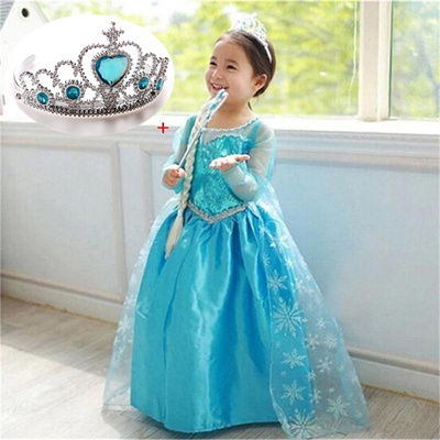 Kids Girls Dresses children Elsa dress costume Princess Anna party dresses baby