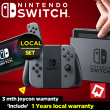 [In Stock] Nintendo Switch Grey // Neon Red/Blue // Red//Local Set // Include 1 Year Maxsoft Warrant