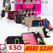 [Marc Jacobs] Make $330 / 21 Type Flat price Snapshot Camera Bag/Authentic from USA ♥