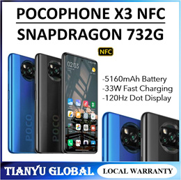 Xiaomi PocoPhone POCO X3 NFC | Global Version | Snapdragon 732G | 5160mAh 33W Fast Charging