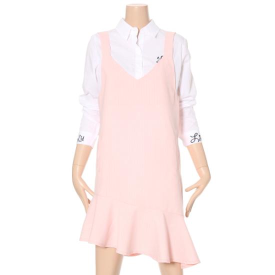 ルシャプLeShopの裾オンバルラッフルワンピースLG4OP355 面ワンピース/ 韓国ファッション