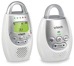 VTech DM221 Safe  Sound Digital Audio Baby Monitor  (NOT FOR SINGAPORE USE) Voltage:110V .
