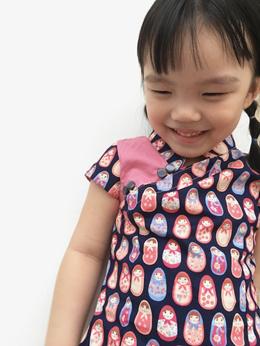 100% Hand Made Quality CNY cheongsam Qipao kids Racial harmony performance Chinese costume gown