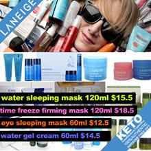 [Laneige][Innisfree][iope]water sleeping mask 120ml $15.5/eye 60ml $12.5/ lip/sample travel kit