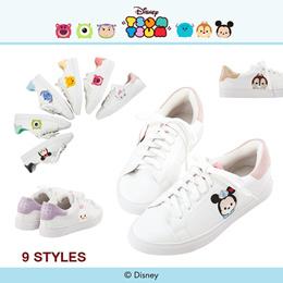 Gracegift-Disney Tsum Tsum TopQ Embroidery Sneakers/Women/Ladies/Girls Shoes