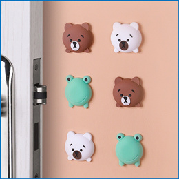 2~4pcs Wall Silence Stickers Stop Lock Protection Pad Door Stopper Golf Design