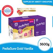 [Singapore Trust] Abbott Pediasure Gold Vanilla 3.6kg(ONLY $36.95/KG!)[FREE 6*237ml RTD chocolate]