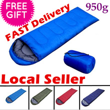 Camping Thermal Sleeping Bag Envelope Hooded Travel Keep Warm Water Resistant waterproof Cotton Bag