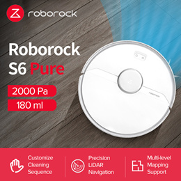[Promotional Offer] Xiaomi MiJia Roborock S6 Pure Robot Vacuum Cleaner  with Local Warranty