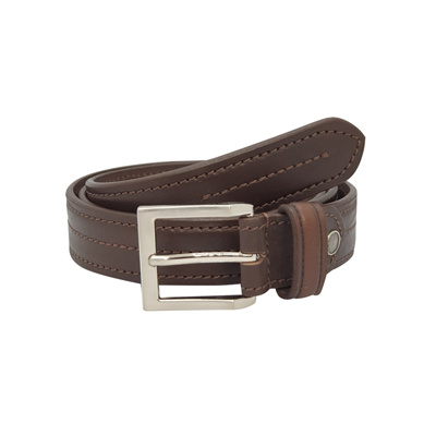 MENS 100/% REAL ITALIAN LEATHER BELT COGNAC TAN WITH DOUBLE STITCHING 35MM