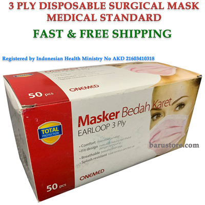 disposable face masks with earloops red medical supplies