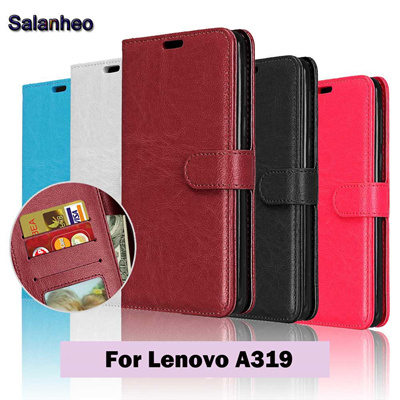 Lenovo A319 Phone Cases PU Leather Case Flip Cover Lenovo A 319 Skin Phone  Case Book Style Wallet