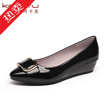 Strength work shoes female black Flats soft bottom comfort shoes KFC work Shoes Non-Slip MOM shoe sl