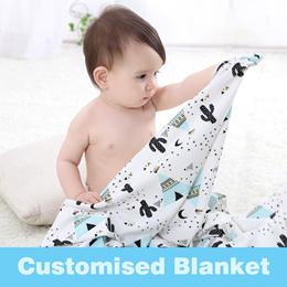 Customised Blanket/ Child care blanket/ baby blanket/bath towel/Cotton Blanket/Bedsheet