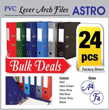 [24 pcs Bundle] PVC Lever Arch File A4 F4 3 inch 2 3 inch