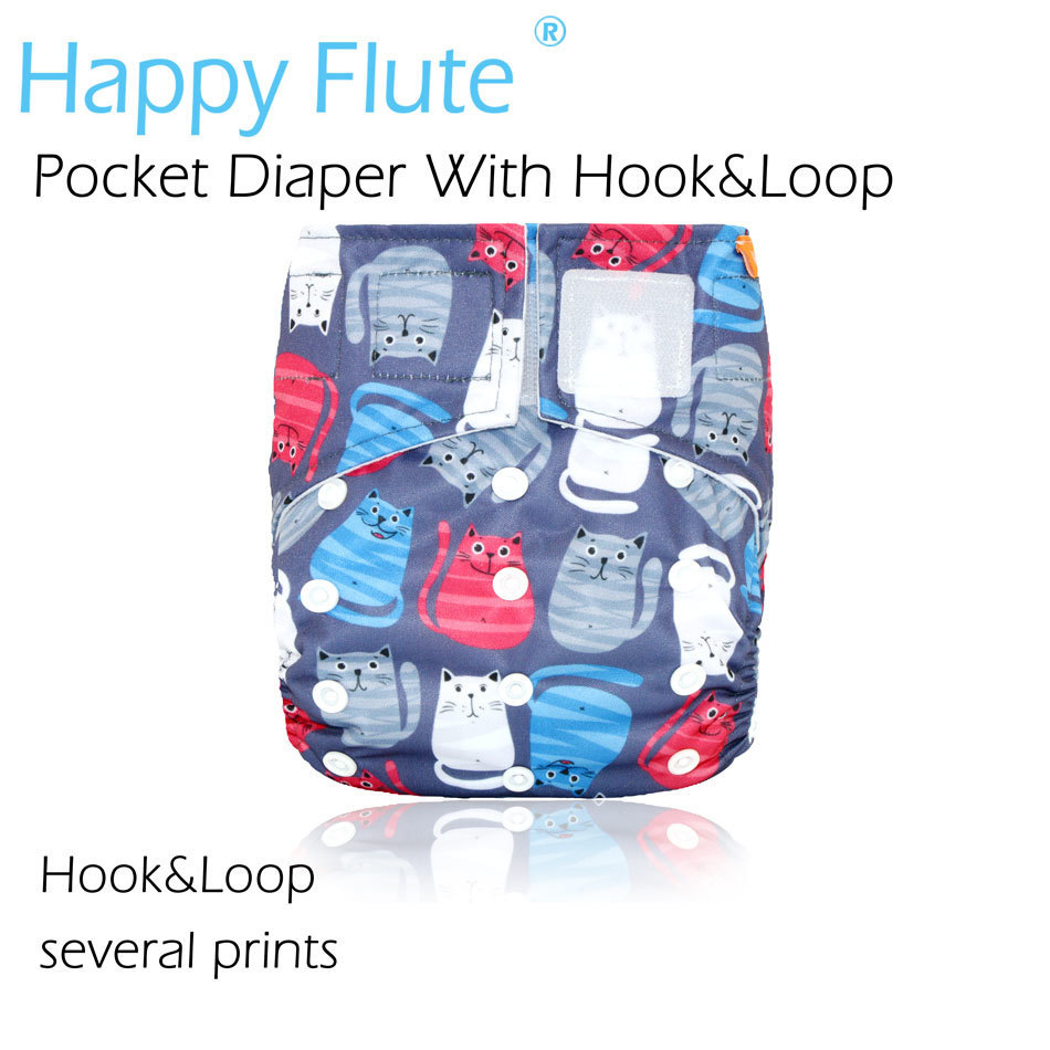 Happy Flute Hookamp Loop OS Pocket Cloth Diaper,waterproof breathable S  Mamp L adjustable,fit 5-15k