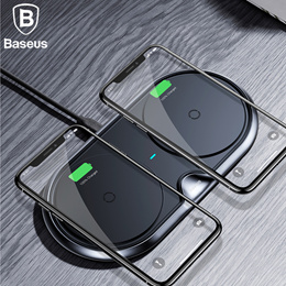Baseus 10W Dual Qi Wireless Charger For iPhone X 8 Samsung S9 S8 Note 8 Fast Charging
