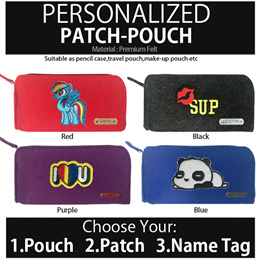 [Helloimd] PERSONALISED PATCH-POUCH Pencil Case Best Christmas gift ideas Singapore kids teens