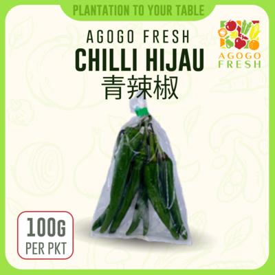 19 Chilli Hijau 青辣椒 (100g)