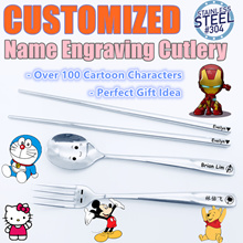 Christmas Gift(Coupon Available)/Customised Cutlery/Engraving Spoon/Spoon/Personalized Gift/gift/