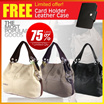 ☀ Free Card Holder ☀ WeidiPolo Shoulder Bag PU Leather Messenger Handbag *3 colors*