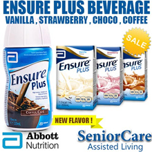 Ensure Plus Vanilla Chocolate Strawberry Isotonic Nutrition Liquid Food Formula Supplement
