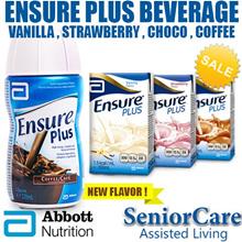 Ensure Plus Vanilla Chocolate Strawberry Isotonic Nutrition Liquid Food Formula Supplement