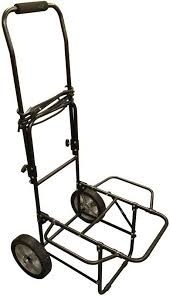 METAL FOLDABLE LUGGAGE TROLLEY CT-90 90KG BLACK COLOUR AND BLUE COLOUR PHILIPS TROLLEY