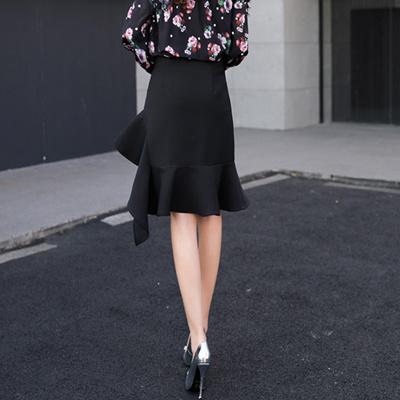 72409a8d8524b Spring 1 waist hip pack black body split step dress skirt skirt suit  high-end