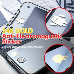 Anti-Electromagnetic/ Gift 5+1/24K Gold-Plated/Anti-Radiation Sticker/iPhone 5/Galaxy S4/Android