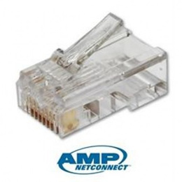 Network 8P8C LAN RJ45 Cat 6 Crystal Head Modular Plug Connector AMP (100pcs)