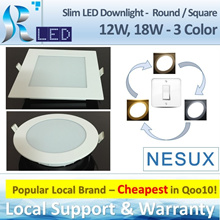 (Nesux) Slim LED Downlight - 3 Color / Tri Color