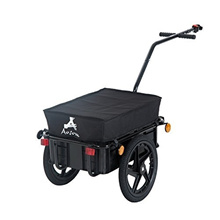 ◆Direct from USA◆ Aosom Enclosed Bicycle Cargo Trailer - Black-B71-005