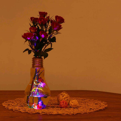 Glowing Light Bulb Shape Stand Plant Flower Vase Hydroponic Container Bottle Hanging Vase Container & Qoo10 - Glowing Light Bulb Shape Stand Plant Flower Vase Hydroponic ...