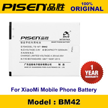 100% Original PISEN Mobile Phone Battery BM42 BM-42 XiaoMi Redmi Note Hongmi Note Battery + 12 Months Warranty