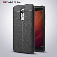 Fashion Lichee Pattern Phone Case for Xiaomi Redmi Note 4 Note 4X Soft TPU Leather Cover Casing