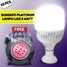 Sunsafe Platinum Lampu Led 5 watt 10 pcs Bonus Roll Kabel