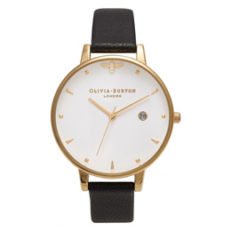 Olivia Burton OB16AM86 Ladies Queen Bee Black  Gold Watch