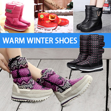 winter boot snow boot rain boots cotton shoes warm winter shoes  waterproof women shoes coupl kids
